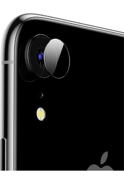 Microcase iPhone XR Kamera Camı Lens Koruyucu Tempered Glass
