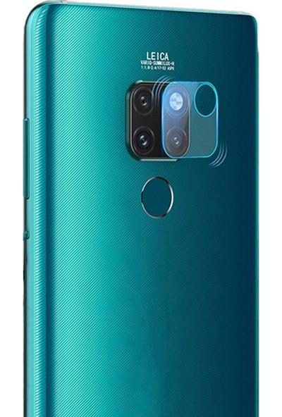 Microcase Huawei Mate 20 Kamera Camı Lens Koruyucu Tempered Glass