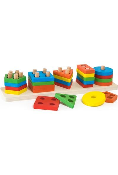 Child Wood Ahşap Geometrik Şekiller