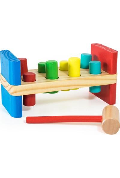 Child Wood Ahşap Çekiç Çak-Çak Oyunu