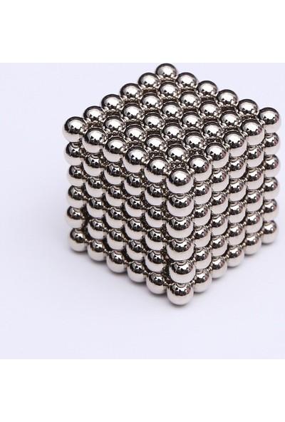 Aksh Sihirli Manyetik Toplar Neodyum Mıknatıs Küp 216 Adet 3mm - Gümüş