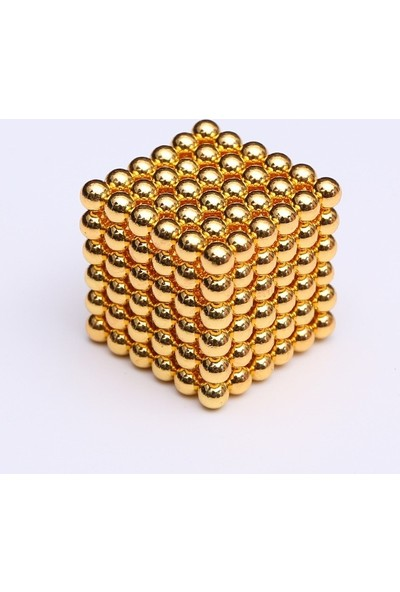 Aksh Sihirli Manyetik Toplar Neodyum Mıknatıs Küp 216 Adet 3mm - Gold