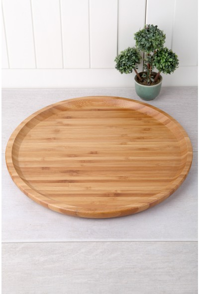 Queen's Kitchen Bambu Yuvarlak 30cm Servis-Sunum Tabağı