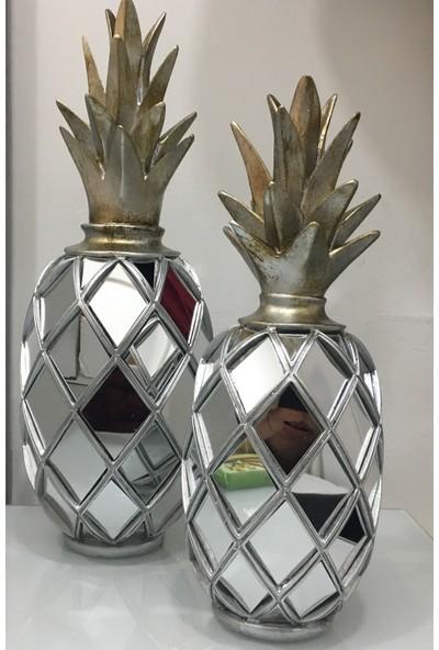 Cavidan Dekor Ananas Biblo Gümüş