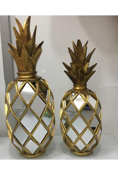 Cavidan Dekor Ananas Biblo Gold