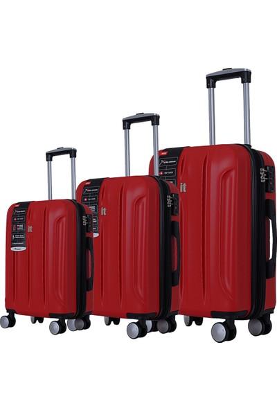 It Luggage 2175 Abs Valiz Seti Kırmızı