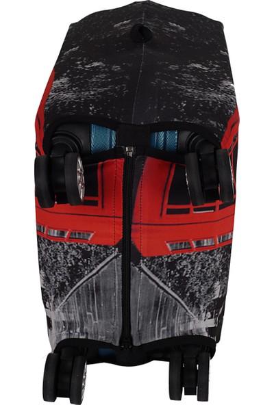 Vk Tasarım 003 Likralı Kabin Boy Valiz Kılıfı