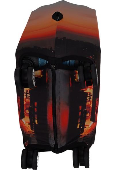 Vk Tasarım 004 Likralı Kabin Boy Valiz Kılıfı