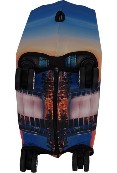Vk Tasarım 005 Likralı Büyük Boy Valiz Kılıfı