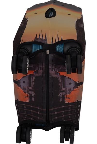 Vk Tasarım 009 Likralı Kabin Boy Valiz Kılıfı