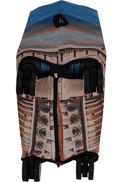 Vk Tasarım 013 Likralı Kabin Boy Valiz Kılıfı