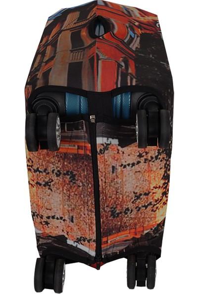 Vk Tasarım 018 Likralı Kabin Boy Valiz Kılıfı