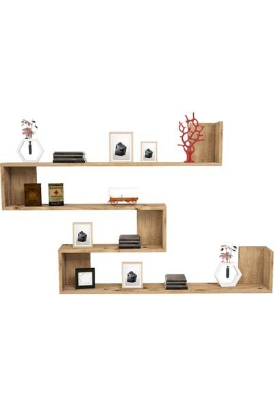 Yurudesign Shelf R11 Modern Duvar Rafı Kitaplık Atlantik Çam