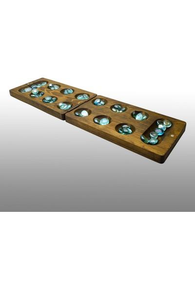 Mor Fil Oyuncak Doğal Ahşaptan Akıl Mantık Strateji Oyunu Mangala