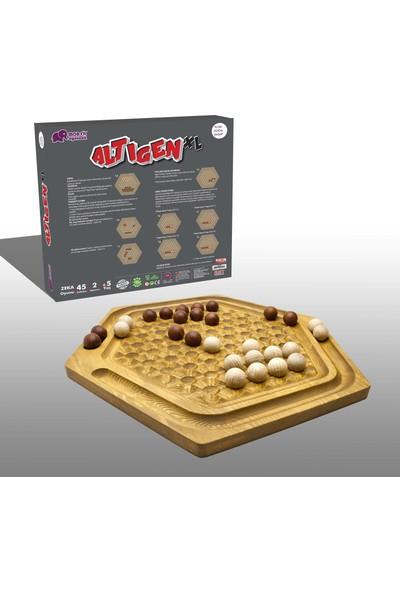 Mor Fil Oyuncak Doğal Ahşap Akıl Zeka Mantık ve Strateji Oyunu Altıgen XL Abalone