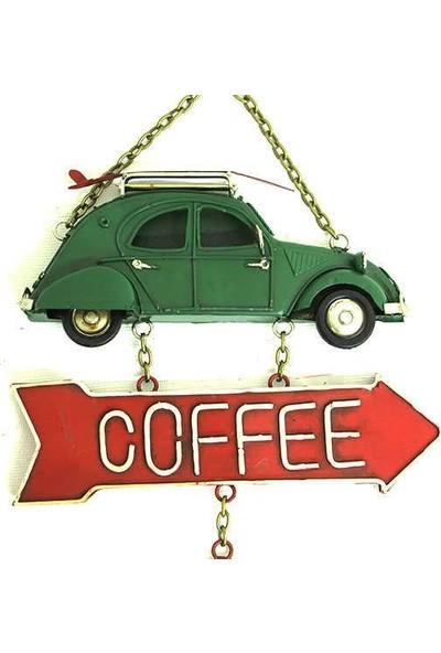 Evim Tatlı Evim Dekoratif Metal Kapı Süsü Ve Duvar Süsü Coffee