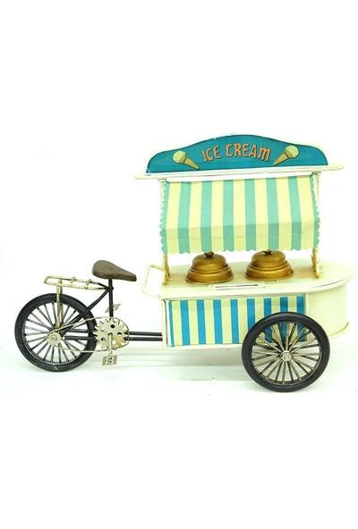 Evim Tatlı Evim Metal Nostaljik Dondurma Arabası 30 cm