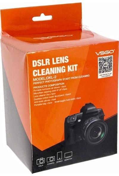 Vsgo Marka Profesyonel Dslr Lens Temizleme Seti - 7 Parça - Vakum Paketli - Dkl-2