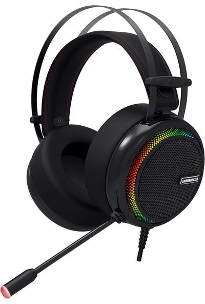 GameBooster Ghost Shark Rainbow RGB LED Titreşimli 7.1 Siyah Oyuncu Kulaklığı (GB-H8)