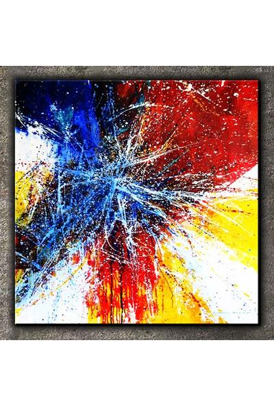 Dekomuz Soyut Resim Kanvas Tablo 30 x 30