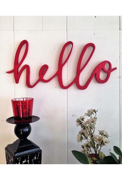 Lamoneta Hello Elyazısı Kırmızı