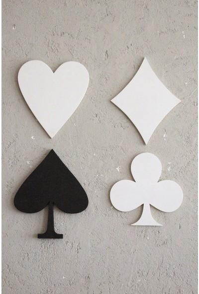 Lamoneta Pokerface Ahşap Duvar Aksesuar Seti