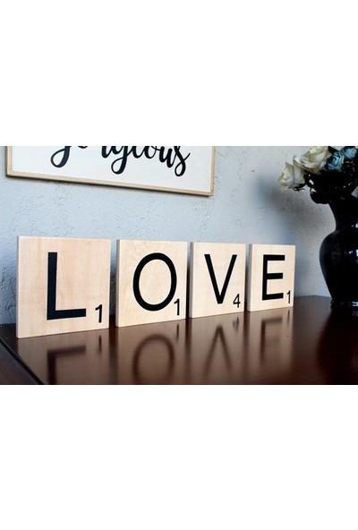 Lamoneta Scrabble Love Duvar Aksesuarı