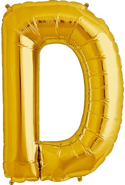 Sevinç 40 İnç D Harfi Gold Folyo Özel Günler Ve Doğum Günleri İçin