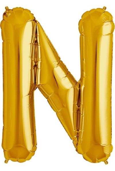 Sevinç 40 İnç N Harfi Gold Folyo Özel Günler Ve Doğum Günleri İçin