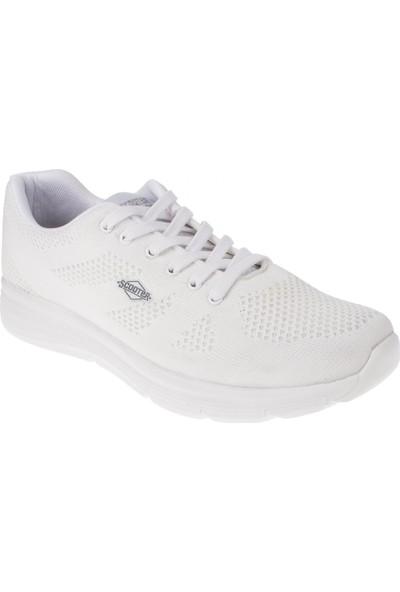 Scooter 5423 Memory Foam Beyaz Erkek Spor Ayakkabı
