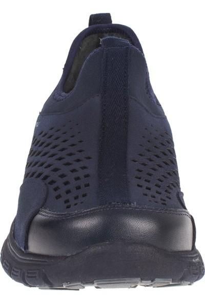 Forelli 45821 Erkek Lacivert Deri Ve Streç Comfort Ayakkabı