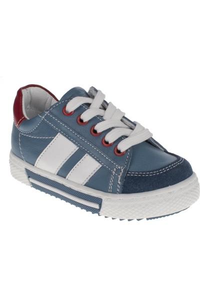 Toddler 6128 Bağlı Fermuarlı Mavi Çocuk Spor Ayakkabı
