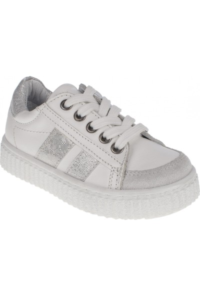 Toddler 6128 Bağlı Fermuarlı Beyaz Çocuk Spor Ayakkabı