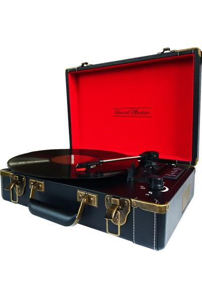 Record Master T317-Ub Pikap Siyah - Bluetooth + Usb / Sd Bellek Girişli - Tüm Plakları Çalabilme