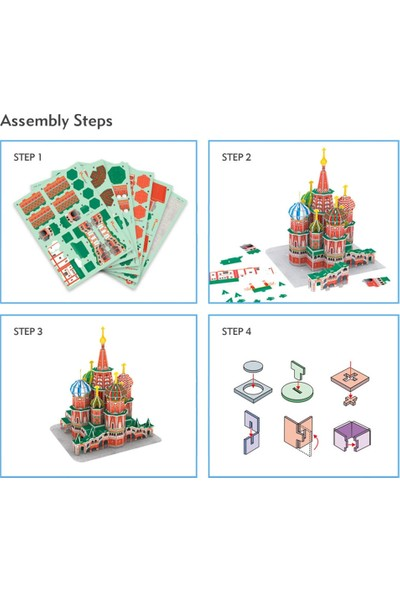 Cubic Fun 92 Parça Puzzle St. Basil'S Cathedral