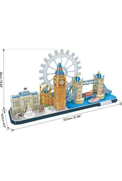 Cubic Fun 107 Parça Puzzle City Line London