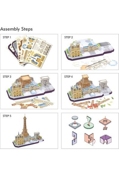Cubic Fun 114 Parça Puzzle City Line Paris