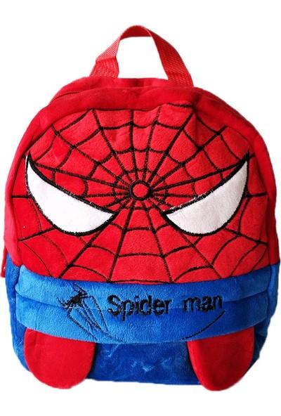 Redpoloshop Anaokulu Sırt Çantası Mini Boy Peluş Yumuşak Spiderman 3-6 Yaş