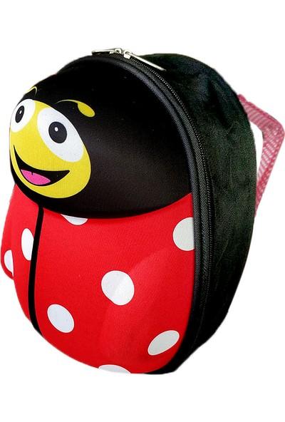 Redpoloshop Anaokulu Çocuk Sırt Çantası Mini Uğur Böceği Sert Abs Kabuk 3-6 Yaş