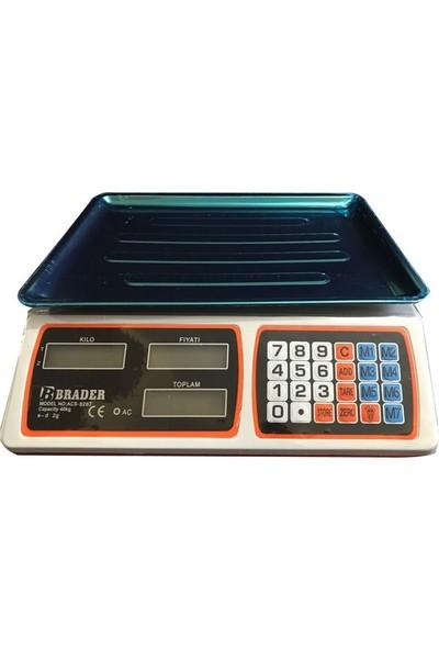 Brader 40 Kg Pilli Ve Şarjlı Çift Taraflı Elektronik Terazi