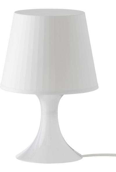 Ikea Masa Lambası Lampan Lamba Abajur Aydınlatma Beyaz Renk