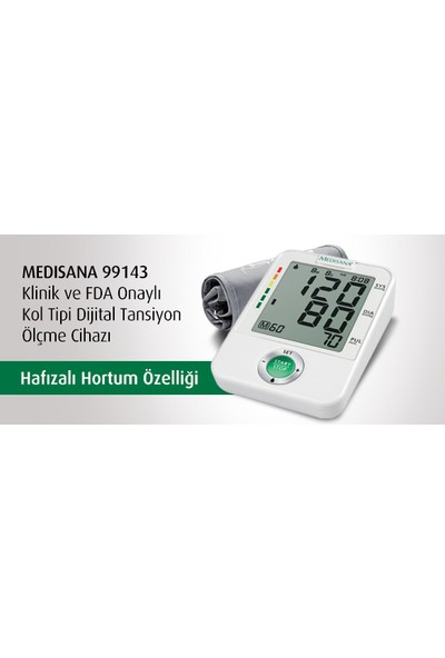 Medisana 99143 Kol Tipi Dijital Tansiyon Ölçme Cihazı