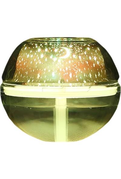 Aromaterapi Cihazı Kristal Gece Lambalı Led Işıklı Ne mlendirici 500 ml