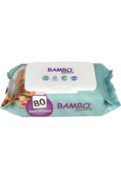 Bambo Nature Islak Mendil - 80 Yaprak