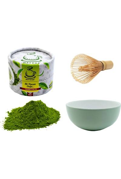 Karadeniz Matcha Çayı Premium Doğa Kutusu (Yeşil Çay Tozu)