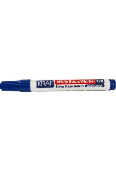 Kraf Beyaz Tahta Kalemi Doldurulabilir 770 Mavi