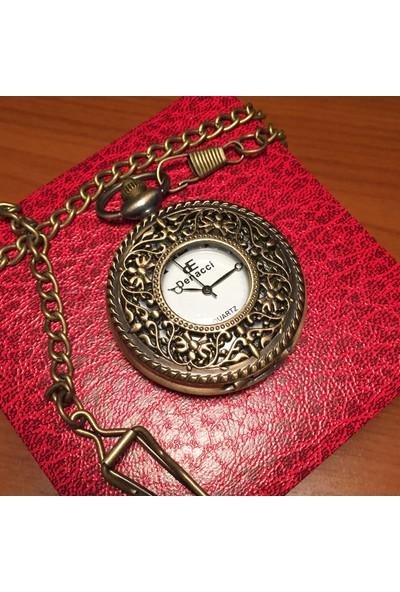 Kuzey Caddesi Köstekli Vintage Cep Saati Sarmaşık Ferforje Desenli