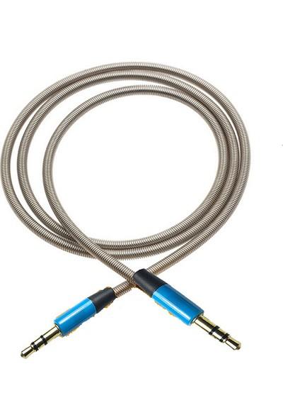 Kingdata Aux 1 m 3,5 mm Metal Kablo