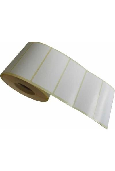 Dünyazen Kuşe Barkod Etiketi 40 x 80 mm