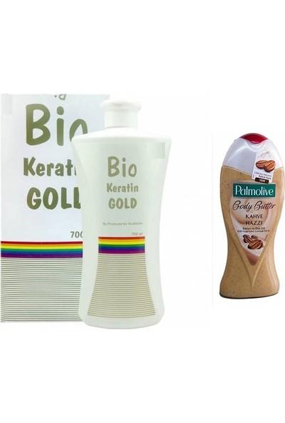 Bio Keratin Gold Brezilya Fönü 700ml + Palmolive Duj Jeli Kahve Hazzı 50ml